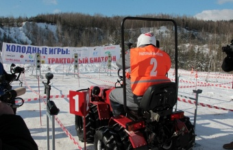 OJSC MTW held the world's first tractor biathlon!